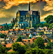 The Cathedral At Arundel Art Print
