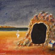 The Cave Of Orpheas Art Print