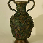 The Cedar Ridge - Wildflower Vase Prickly Pear Side Art Print