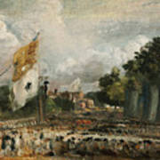 The Celebration In East Bergholt Of The Peace Of 1814 Concluded In Paris  Art Print
