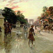 The Champs Elysees - Paris Art Print by Georges Stein