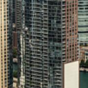 The Chandler Condominiums Building Chicago Aerial Art Print