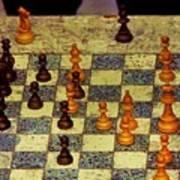 The Chess Game, New York City C. 1977 Art Print