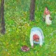 The Chestnut Gatherers Art Print