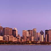 The Chicago Skyline At Sunrise Art Print