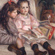 The Children Of Martial Caillebotte Art Print by Pierre Auguste Renoir