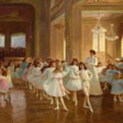 The Children's Dance Recital At The Casino De Dieppe Art Print