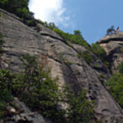 The Chimney At Chimney Rock State Park Nc Art Print