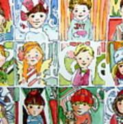 The Christmas Cousins Art Print