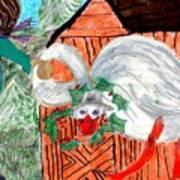 The Christmas Goose Art Print