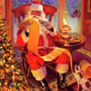 The Christmas List Art Print