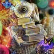 The Christmas Owl  Art Print