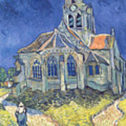 The Church At Auvers Sur Oise Art Print by Vincent Van Gogh