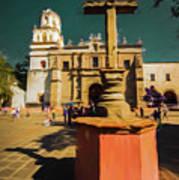 The Church Of San Juan Bautista Of Coyoacan 2  Art Print