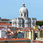 The Church Of Santa Engracia And Rooftops -- Lisbon Art Print