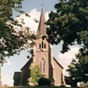 The Church On The Hill Art Print
