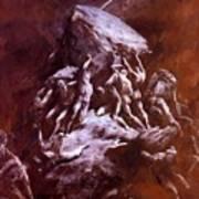 The Clash Of The Titans 1866 Art Print