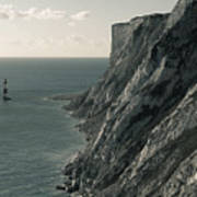The Cliffs Of Beachy Head And The Lighthouse Art Print