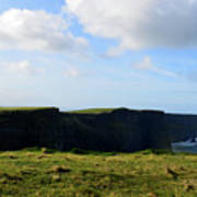 The Cliff's Of Moher In Ireland With Beautiful Skies Art Print