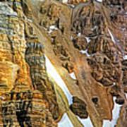The Climb To Abbot's Hut - Paint Art Print