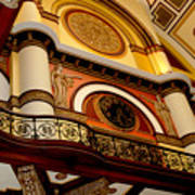 The Clock In The Union Station Nashville Art Print