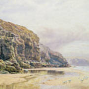 The Coast Of Cornwall  Art Print by John Mogford