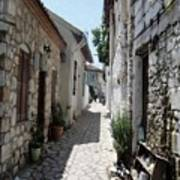 The Cobbled Back Streets Surrounding Old Marmaris Art Print