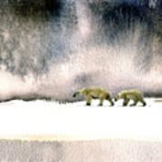 The Cold Walk Art Print