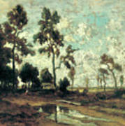 The Colliers' Hut In The Forest Of Fontainebleau Art Print