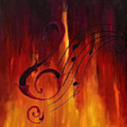 The Color Of Music Art Print