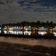 The Colorful Lights Of Boathouse Row Art Print