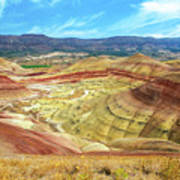 The Colorful Painted Hills In Eastern Oregon Art Print