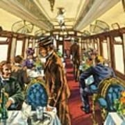 The Comfort Of The Pullman Coach Of A Victorian Passenger Train Art Print