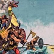 The Coming Of The Vikings Art Print