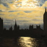 The Commons From South Bank Art Print