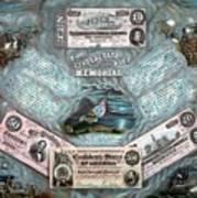 The Confederate Note Memorial  Art Print