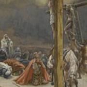 The Confession Of Saint Longinus Print by Tissot