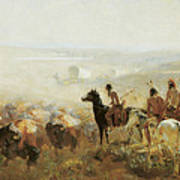 The Conquest Of The Prairie Art Print by Irving R Bacon