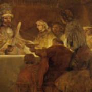 The Conspiracy Of The Batavians Under Claudius Civilis Art Print