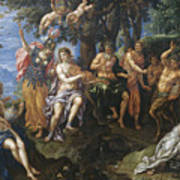 The Contest Between Apollo And Pan, 1600 Art Print