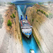 The Corinth Canal  Art Print