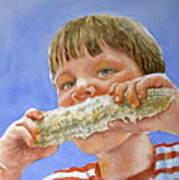 Andrew The Corn Eater Art Print