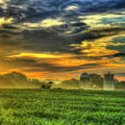 The Cornfield Dawn The Iron Horse Collection Art  Art Print