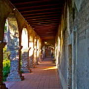The Corridor By The Serra Chapel San Juan Capistrano Mission California Art Print