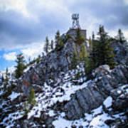 The Cosmic Ray Station Atop Sulphur Mountain, Banff, Canada Art Print