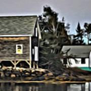 The Cove At Dusk Art Print