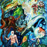 The Creation Of The Ocean Art Print