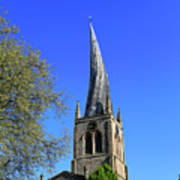 The Crooked Spire Of St Mary And All Saints Church, Chesterfield Art Print