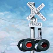 The Crossing - Train Signals Art Print