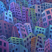 The Crowded City Art Print